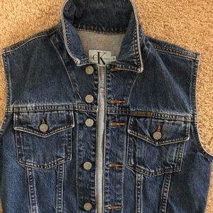 Calvin Klein Jeans denim vest size S